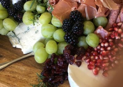 Charcuterie-Display-with-Brie