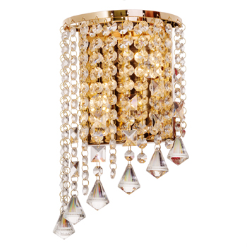 Carolina Electrical Supply Company | close up of a crystal chandelier with diamond shaped glass pieces hanging from it