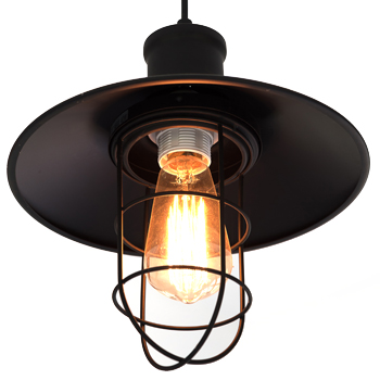 Carolina Electrical Supply Company | close up of a rustic light fixture with a single bulb