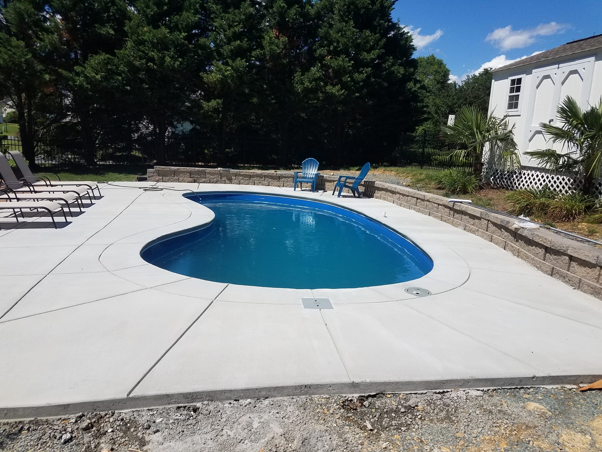 Nick's Pool Service | Fort Mill, SC | Concrete built-in pool in yard