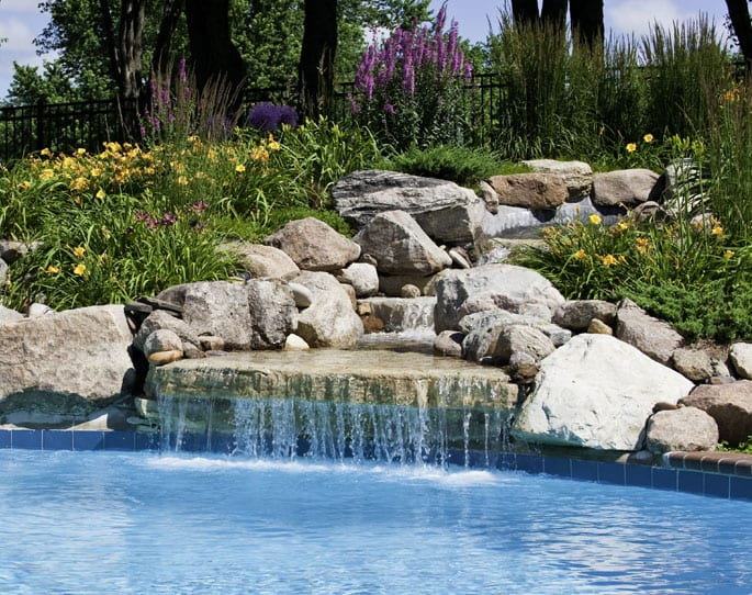 Nick's Pool Service | Fort Mill, SC | waterfall for built-in pool