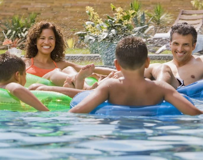Nick's Pool Service | Fort Mill, SC | family enjoying built-in pool