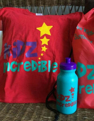Creative Kids Fort Mill | t-shirt with drink bottle and a backpack with information packet