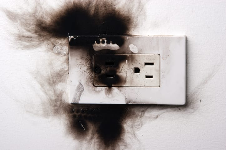 Palmetto Electrical Contractors | burned out electrical socket