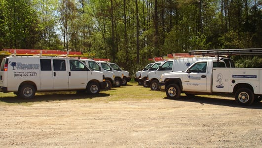 Palmetto Electrical Contractors | Palmetto Electrical Contracting Fleet of Trucks